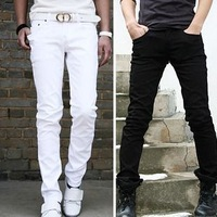 2013 brief male casual pants solid color pants