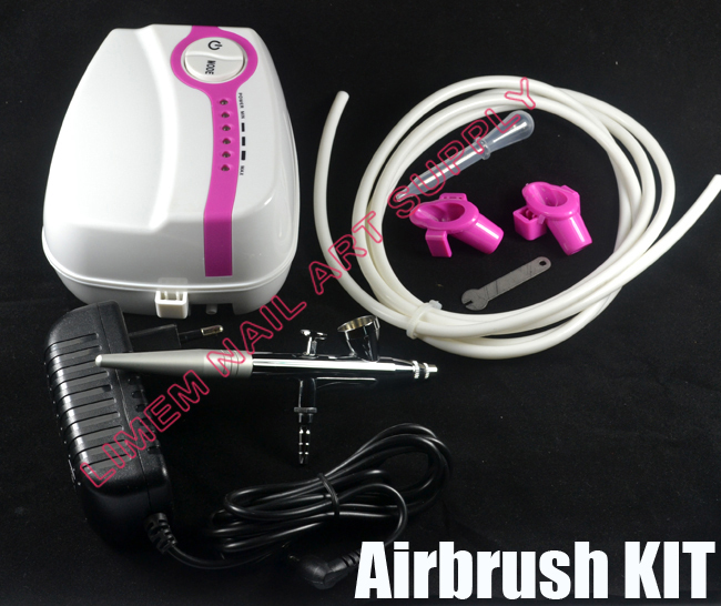 FREE SHIPPING Portable Makeup Tattoo Airbrush Mini Air Compressor with Spray Gun kit 5 Speed Airbrush tattoos 24 hours Working(China (Mainland))
