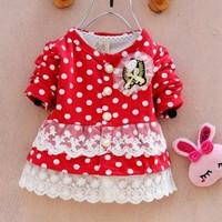 2013 Spring Autumn girls Dots Winnie princess dress kids dresses Baby dresses children Clothing Wear