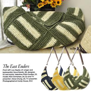 2013 stripe personality envelope bag shoulder bag messenger bag straw bag pb03