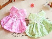 Polka dot princess pet clothes spring dog clothes summer teddy chigoes dog clothes