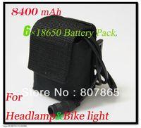 8400mAh 8.4v Li-ON 6x18650 Battery Pack For Led Headlamp/ headlight /bicycle light /Bike Lamp Free Shipping