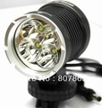 10Pack 5000Lumen 4 X CREE T6 Bicycle Light Bike Lamp Power By  18650 Batteries Pack Free Shipping