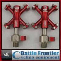 original ultra-light XCF05AC 300g 3Cartridge aluminium mtb road bicycle QUICK RELEASE pedals/red,titanium,black pedal/bike parts