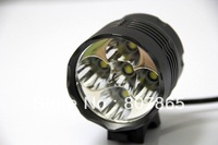 6000Lumen 5 X CREE T6 Bicycle Light Bike Lamp With 6 x 18650 Batteries Pack Free Shipping