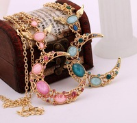 Min $20 (can mix) free shipping Fashion solomon the moon necklace female long necklace