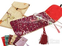 Soft Sunglass Pouch Eyeglasses Bags Glasses Case Chinese Silk Tassel Bag 10pcs/lot mix color Free
