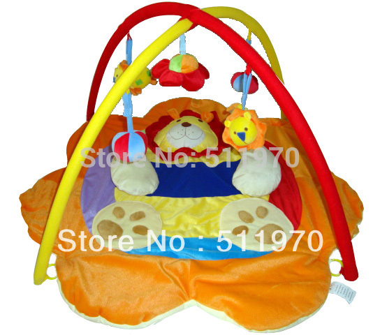 Free Shipping Fashion Lion design infant playing mat good gift for newborn baby 3d activity play shelf kids cloth game pads(China (Mainland))