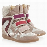 Free shipping 2013 NEW Women's Isabel Marant Willow Sneaker Shoes 4 Colors Size 35-41 Suede Leather Shoes