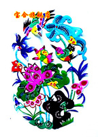 Unique foreign affairs gifts paper cutting home decoration painting__008