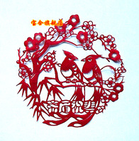 Unique foreign affairs gifts paper cutting home decoration painting__007