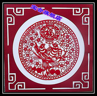 Unique foreign affairs gifts yuxian paper-cut painting core 5
