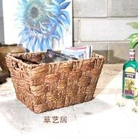 Diy handmade cattail c2 laundry basket debris basket storage basket storage basket triangle set