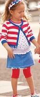 retail  baby girl spring summer cotton 4 pcs clothing set 1 sweater+1 t shirt+1 leggings+1 skirt kid's fashion suit