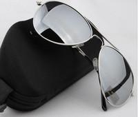 Free Shipping  2013 New aviator mirror sunglasses , men glasses with box
