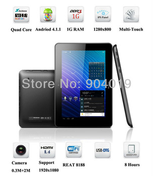 7'' Ainol Novo7 Venus Quad Core Cortext A9 IPS 1280x800 Android 4.1 16GB Wifi Tablet White Black