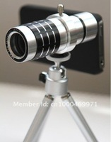 12X Zoom Optical Telescope Camera Lens Kit+Tripod Stand+Case 3 IN 1 for iPhone