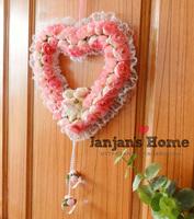 Bear rose 10/20 / garishness wind chimes hangings door trim 3 heart