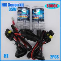 2013 Superbright 2PCS/12V 35W H1 8000K HID Xenon Headlight Bulb lamp coversion kit