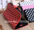 For iPhone 4S Case, Cute Polka Dots Book Folio Stand Leather Case Cover for iPhone 4 4S 4G, Free Shipping 10pcs/lot
