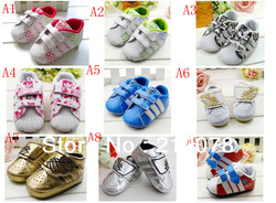 S062 Soft outsole patchwork baby sneakers shoe baby shoes child 3pairs/lot kid footwear infant first walkers free shipping(China (Mainland))