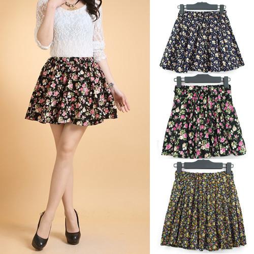 Wonderful Womens Midi Skirt  Black  Geometric Pattern  White