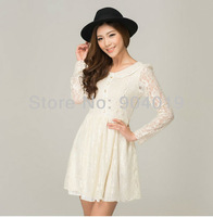 New Sexy Women Fashion Slim Lace Summer Dress Mini Dress Skirt Long Sleeve