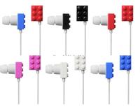 Building blocks earphones candy building blocks earphones in ear earphones classic earphones