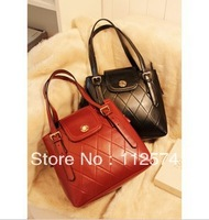 2013 soft new Europe and the United States car line Lingge the retro package stylish burgundy shoulder handbags
