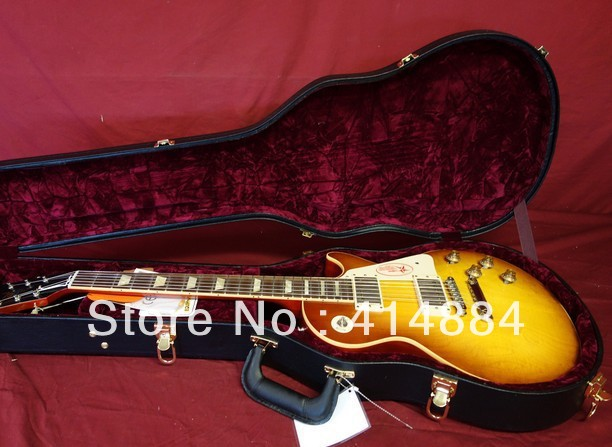 G GUITAR L P Plain Top VOS Electric Guitar, Ice Tea Rare Music rock(China (Mainland))