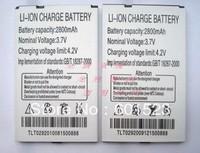 free shipping 2pcs/lot battery for changjiang w007 mobile phone