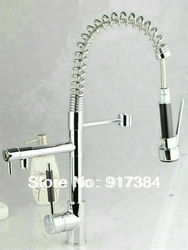 Pull UP& Down With Sprayer Kitchen Sink Mixer Tap Chrome Faucet JN405(China (Mainland))