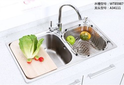 Guanchong sus304 stainless steel sink slot vegetables basin wt85987 a34111(China (Mainland))