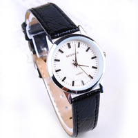 F04897 Stylish Ultrathin PU Leather Strap Wrist Watch Bracelet Best Gift For Girlfriend Lady Female + Free Shipping