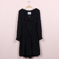 2013 lily . summer new arrival y women's elastic waist casual chiffon one piece shorts
