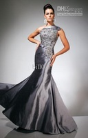 2013 Tony Bowls Prom Dress TBE11311 Sexy Silver One Shoulder beading Evening Party Gown Custom Made