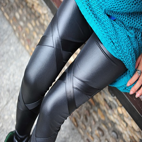 Cheap Shiny Black Leggings Black Shiny Leggings Wrap