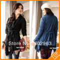 2013 new style blue Cardigan knitting coat free shipping black fashion jacket XXL women jacket Wholesale cheap ladies' jacket