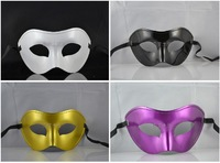 Free shipping carnival black white glod Purple Half Face mens masquerade masks