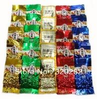 5 Different Flavors tea, 25pcs TieGuanYin Oolong Tea ,Biluo chun,Ginseng oolong,Green tea free shipping
