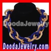 Fashion Rock Punk Chunky Curb Chain Choker Necklaces Wholesale Free Shipping, 2pcs/lot