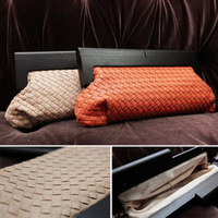 2014 star style vintage dinner party knitted with wooden handle women's clutch bag day clutch female bags