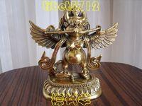 Tibet Buddhism bronze Garuda Bird God Statue with snake 13 cm tall  free shipping