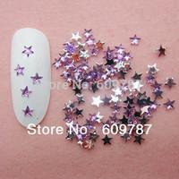 Free Shipping 10000pcs/lot Purple Flatback star nail art Rhinestone stone decorations