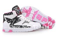 Free Shipping Korea SPX 2NE1 Endorsement High Cut Women Sneakers High Platform Flat Shoes Hip Hop Dancing Shoes Pink+White