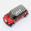 stereo car shape mini portable music speaker box for mobile / computer with FM TF card Slot drop free shipping