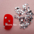 Free Shipping 10000pcs/lot Clear Flatback star nail art Rhinestone stone decorations
