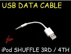 Free Shipping USB Charger SYNC Cable for Apple iPod Shuffle 3rd 4th 5th Generation(China (Mainland))