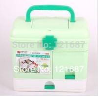 Family health kits drug box Green
