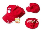High Quality Super Mario Cotton Hat Cosplay Anime Adult Cap 5 Colors  G2491 Free Shipping 100pcs/LOT